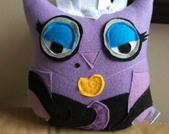 Owlsula Owl Plushie- inspired by The Little Mermaid- Ursula Owl Plush Toy