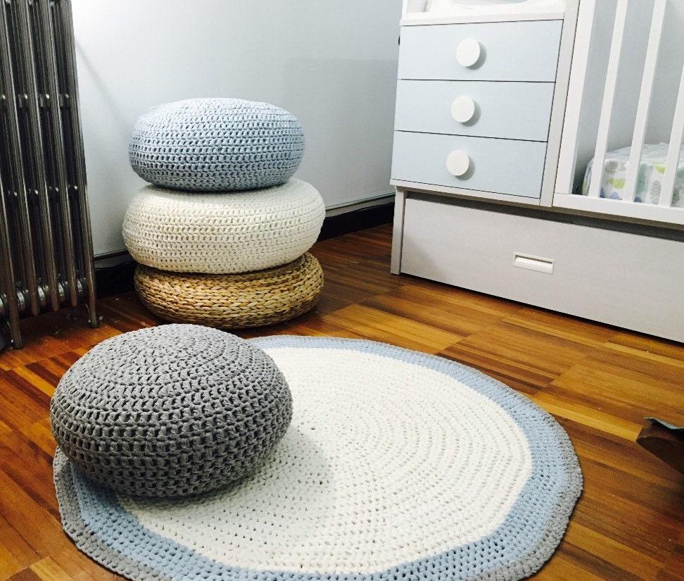 Floor Cushions For Nursery : Knit Floor Pillow-Nursery Decor-Teepee Floor Pillow Pouf-Kids