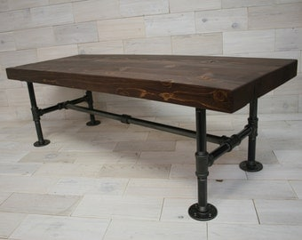 Arcadian Coffee Table With Reclaimed Cedar Top And IronWorks Base . . .  (aka Rustic