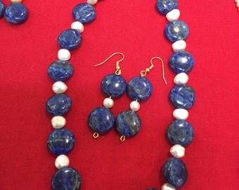 Lapis & culture Pearls