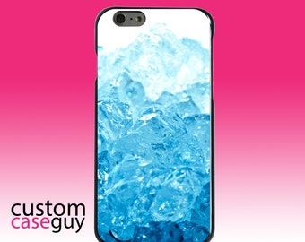 Hard Snap-On Case for Apple 5 5S SE 6 6S 7 Plus - CUSTOM Monogram - Any Colors - Clear Blue Ice
