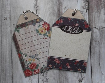 Floral Life is Sweet Gift Tag Set