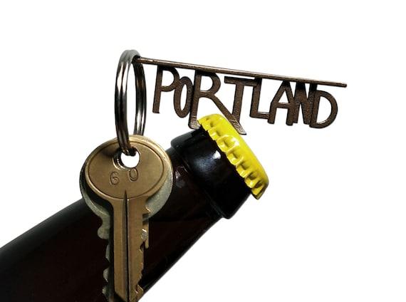 portland bottle opener keychain craft beer snob oregon ducks. Black Bedroom Furniture Sets. Home Design Ideas