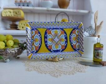 Mediterranean Tuscan Style Dollhouse Tray