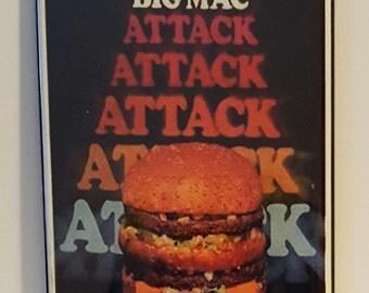 """McDonald's Big Mac Attack  2"""" x 3"""" Fridge Magnet Art Vintage"""