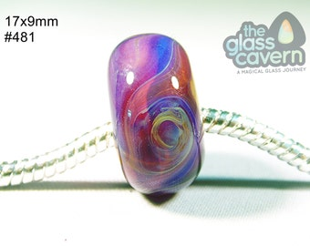 Handmade Large Hole  Borosilicate Glass Bead