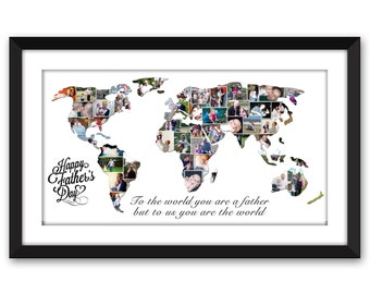 World Earth Whole World Wide World Wedding Vacation Honeymoon Destination International Travel Photo Collage Digital Printable