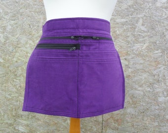 Purple Corduroy Market Trader Money pocket / bag / Vendor money apron.