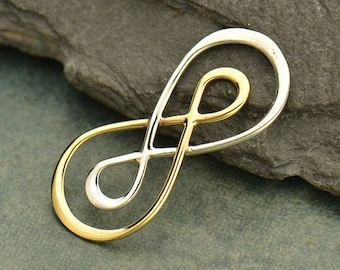 Mixed Metals Silver and Bronze Infinity Link