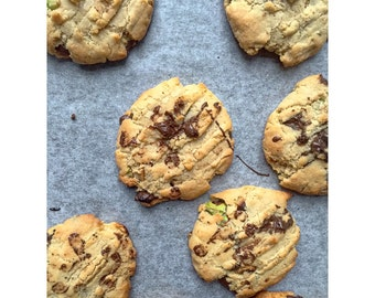 Pistachio & Chocolate Cookies