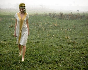 Lurex cotton shift dress