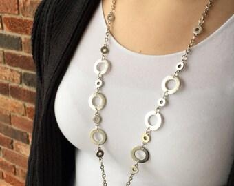 Simply Circle Lanyard Necklace - Beaded Lanyard