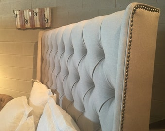 Leigh Upholstered Queen Headboard and Rails