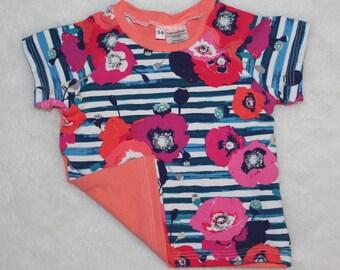 3-6m floral shirt