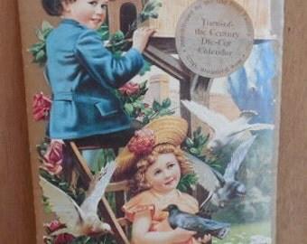 Victorian Die Cut Calendar Victorian Calendar Victorian Children Vintage Calendar Ephemera TillieLuvsTreasures
