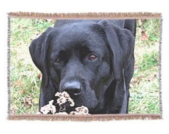 Black Labrador 12TT Throw Blanket - Black Lab Gifts - Labrador Gifts - Black Lab Blanket - Labrador Decor -Dog Lover Gift - Dog Blanket