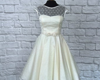 Lola rose lace tea length wedding dress for Etsy tea length wedding dress