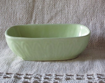 Vintage Mid Century COOKSON Light Green POTTERY PLANTER
