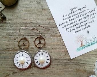 Steampunk earrings romantic