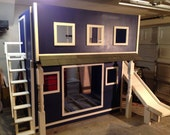 Playhouse Bed with Stairs and a Slide!