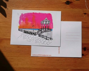 Illustrated Brighton Bandstand Postcard