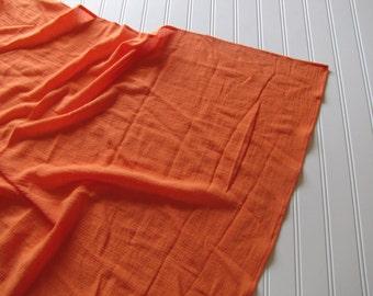 Orange Swaddling Blanket - Muslin Receiving Blanket - Orange Baby Blanket - Orange Swaddling Blanket - Made 4U Handmade Designs