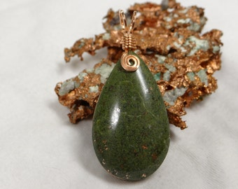 Michigan Copper Matrix Wire Wrapped Pendant