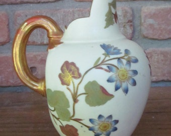 c.1887 Royal Worcester Ewer Pitcher Blush Ivory