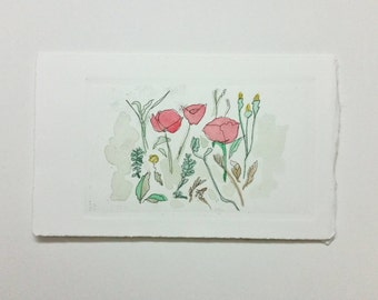 Red Poppies -Greeting Card