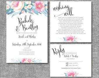Bloom Wedding Invitations