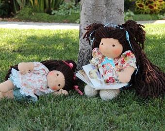 """Custom Waldorf Doll, 14"""" tall, All-natural Doll, Custom Doll"""