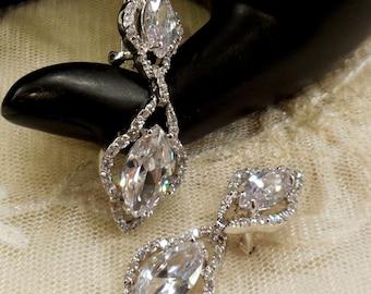 Vintage Crystal Dangle Earrings