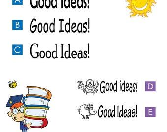 Good Ideas, Pre-inked teachers stamp (#680412)