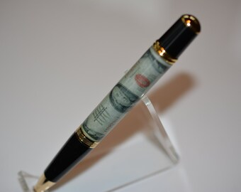 Pen with Replica of a Hundred Doller Bill - Handcrafted