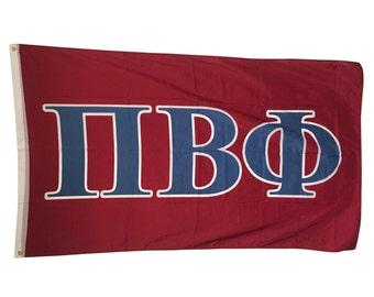 Pi Beta Phi Letter Sorority Flag