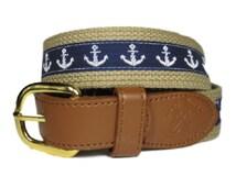 Mens Hand Made Anchor Belt-Men's Belts
