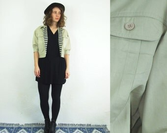 90's vintage women's beige jacket