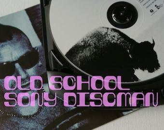 Old school Sony Discman, Sony Discman D-231, old school Discman