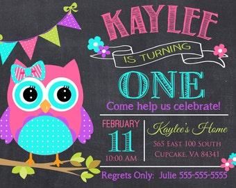 owl birthday invite  etsy, party invitations