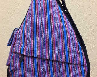 Bright Striped Shoulder Bag
