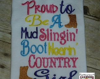 Country Embroidery applique design