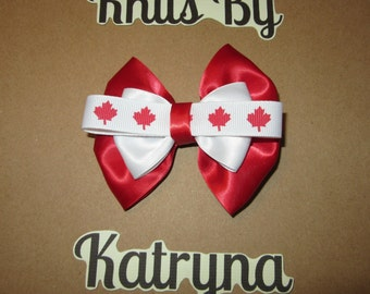 Canada Day Hair Bow