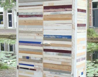 Reclaimed wooden wardrobe