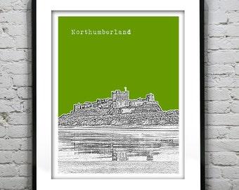Presidents Day Sale 15% Off - Bamburgh Castle Northumberland England Poster  Art Print UK United Kingdom