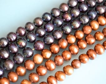 FreshWater Pearl Beads Round/Potato Shape Metallic Color Size Approx. 7mm #F2-15