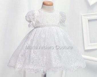 Lace baby baptism Dress, baptism dress, lace christening dress