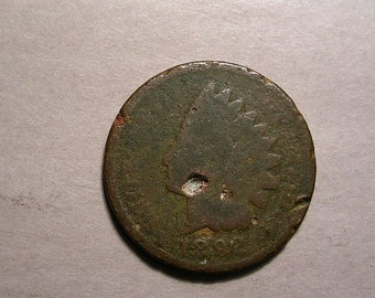 1892 P Indian Head Cent # 1667  US Coin  Dug Coin Condition