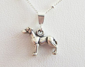 Great Dane Mini Pendant Charm and Necklace