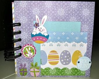 Easter mini album, 5x5 mini album, Easter scrapbook album, Easter mini scrapbook, Easter  brag book, Easter premade mini album, WK 138