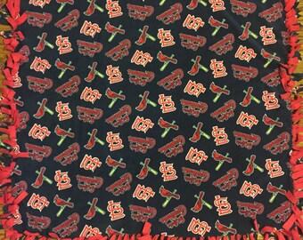 St.Louis Cardinals Fleece Tie Blanket